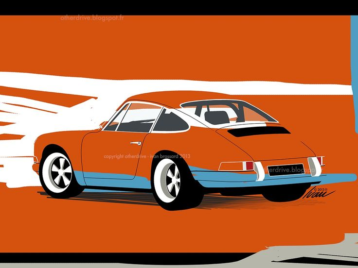 Porsche 911 Ivan Brossard Cars Illustrations