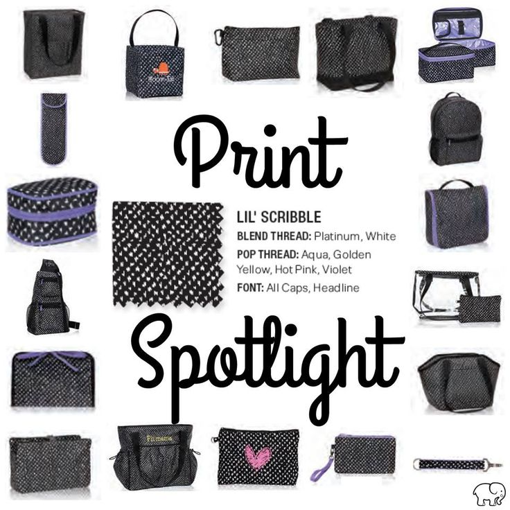 Print Spotlight for Spring/Summer 2017 Thirty-One - lil' Scribble  #newcatalog #Carrie31Bags