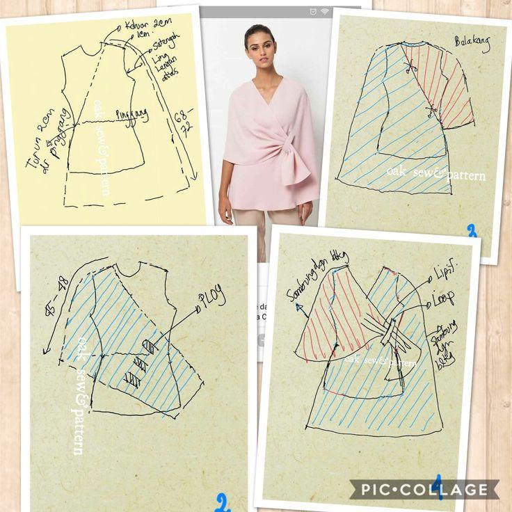 Wrap/kimono blouse