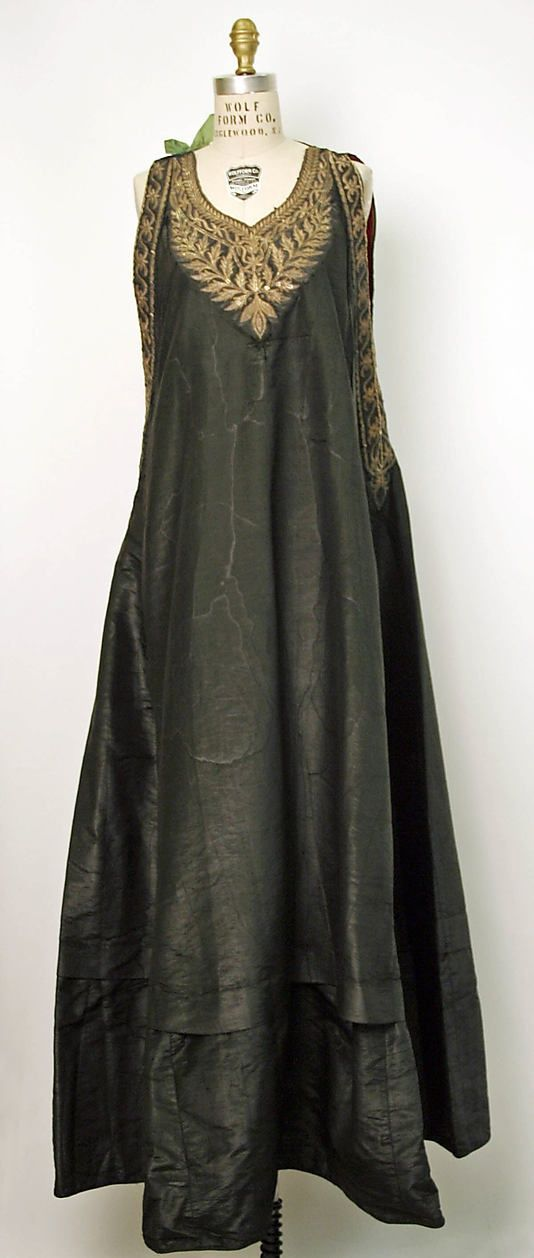 Dress Date: 19th century Culture: Algerian Medium: silk, cotton, metal thread courtesy of The Met
