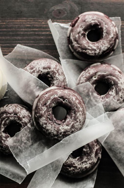 glazed chocOlate cake doughnuts