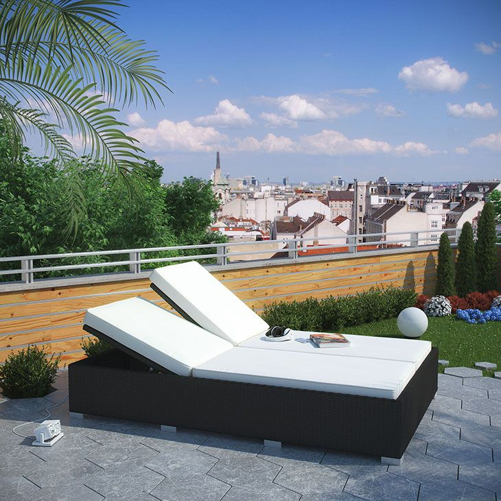 EVINCE OUTDOOR PATIO CHAISE IN ESPRESSO WHITE Fuse Together Balanced  Portrayals With The Evince Chaise Lounge