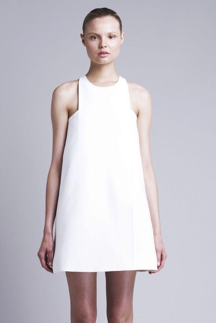 Chic white dress - minimal fashion; modern simplicity // Stella McCartney