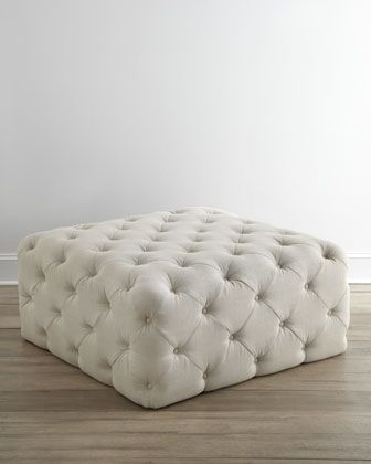 #HORCHOW Puffet Ottoman by Haute House at Horchow. Beautiful!!! For living room