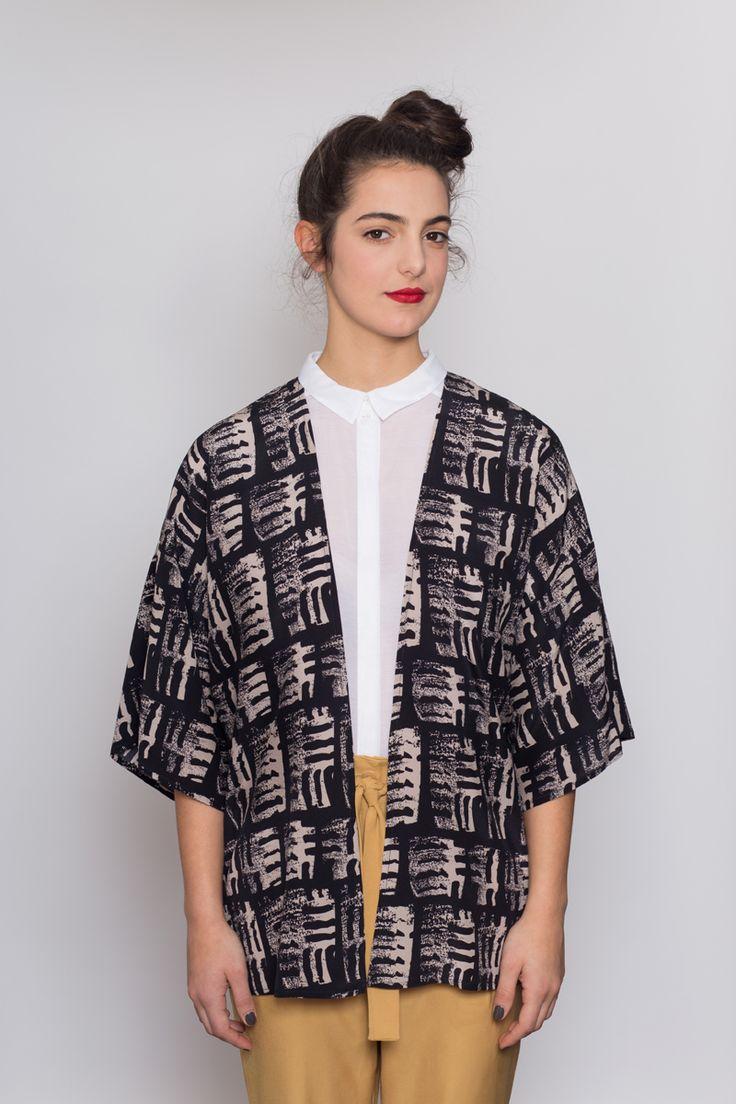 AH/OK Mono - Silk Kimono