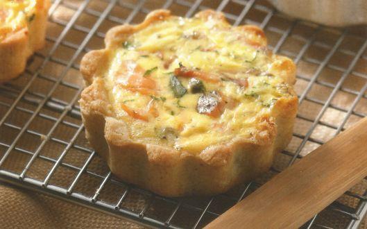 Esta es la Receta de Tartaletas de Salmón, una preparación ideal como entrada o incluso también como plato de fondo, Ingredientes y Modo de preparación .