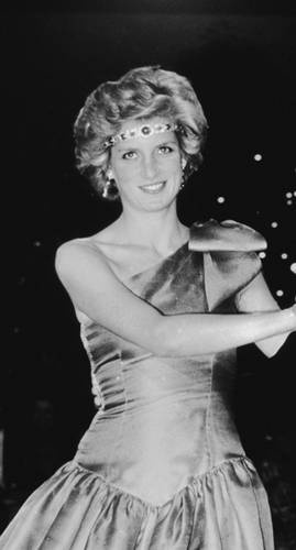 October 30, 1985: Princess Diana at a ball held at the Southern Cross Hotel, Melbourne, Australia.