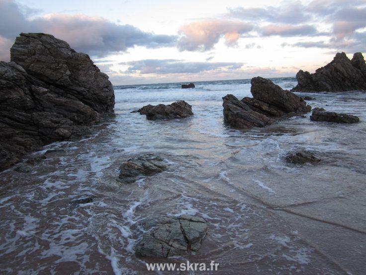 Ciel d'automne plage de Durness, Ecosse