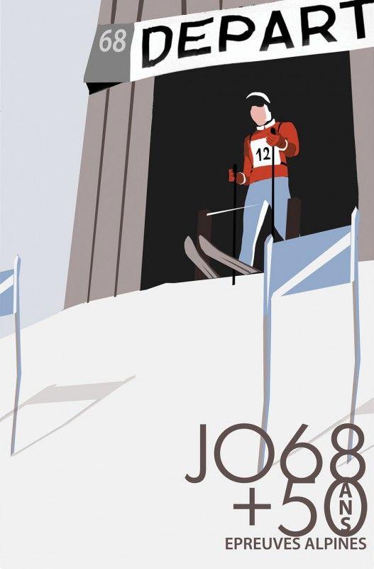 CHAMROUSSE - 50 ans Jeux Olympiques : exposition Télécabine de la Croix Jeux Olympiques 1968 @Pays Merveilleux