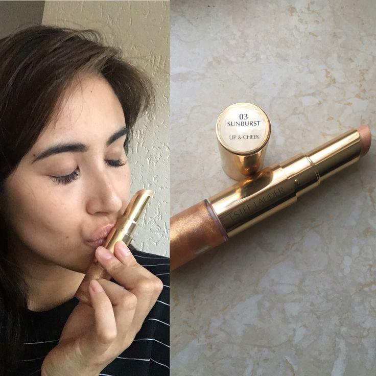 New in: de Lip & Cheek Summer Glow van Estée Lauder in Sunburst. Hiermee creëer je een mooie zomerse gloed op de wangen en een balsem/gloss voor op je lippen! 💋 #beautyloveresteelauder #glamourbeautylover