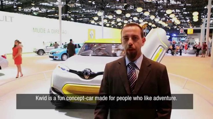The Kwid concept car made its first appearance in South America at the Sao Paulo motor show in Brazil. Discover visitors' reactions.