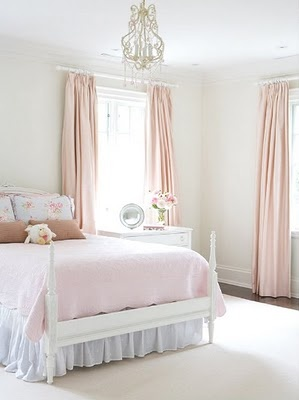 so simple and elegant-  big girl room