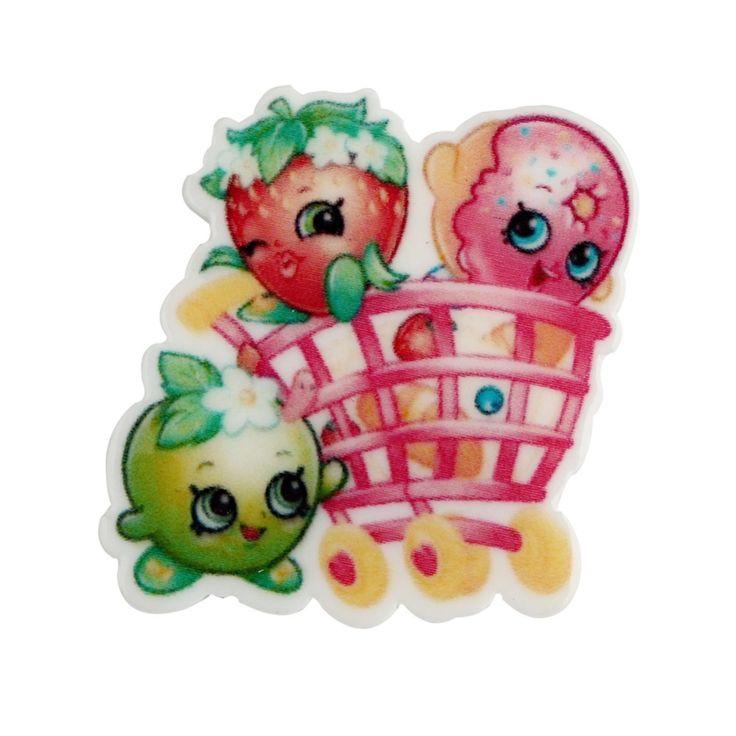 10pc Lovely Shopkins Cupcake Queen Planar Resin Cartoon flatback planar resin Kids Jewelry Making accessories