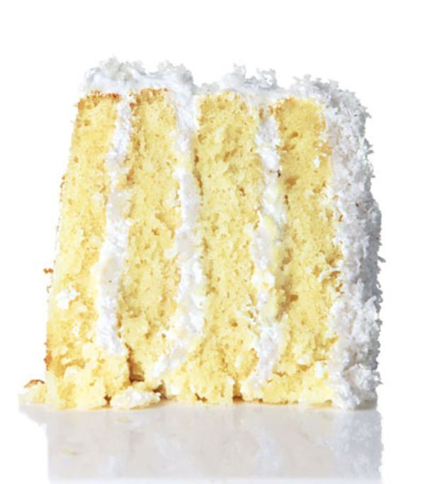 Fresh coconut and its sweet water are the keys to this moist, light, classic cake.