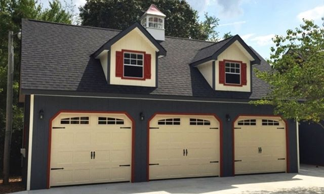 We Would Love To Build Your Dream Garage Contact Us At The Link In Profile To Learn More Garage Makeroomforlife Woodtex Building A Shed Shed Modern Shed