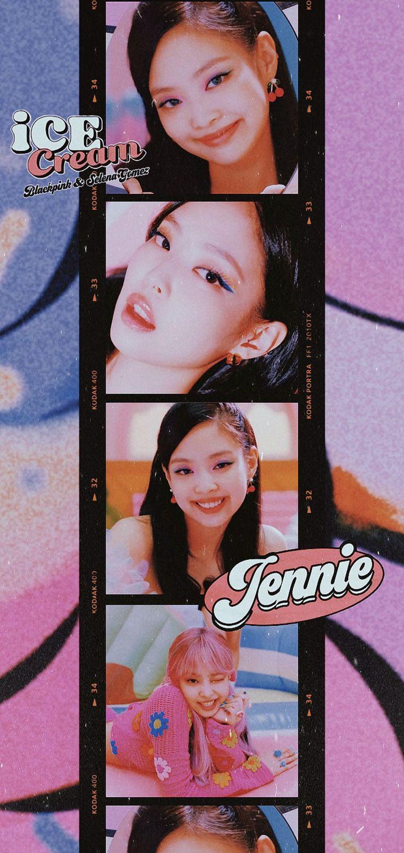 BLACKPINK JENNIE Wallpaper ICE CREAM em 2020   Jennie ...