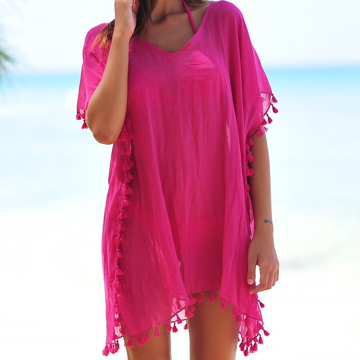 Seafolly Amnesia Kaftan - Tahiti Pink
