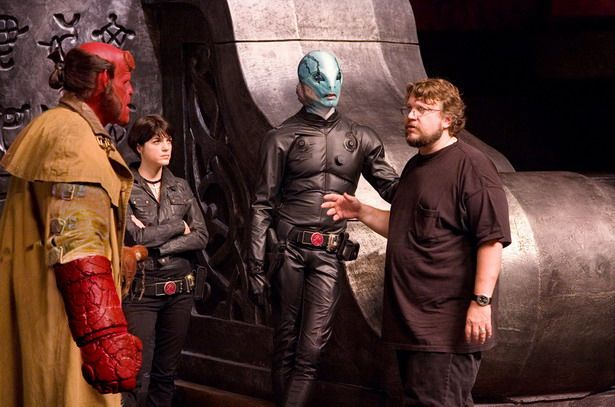 On Hellboy's set.