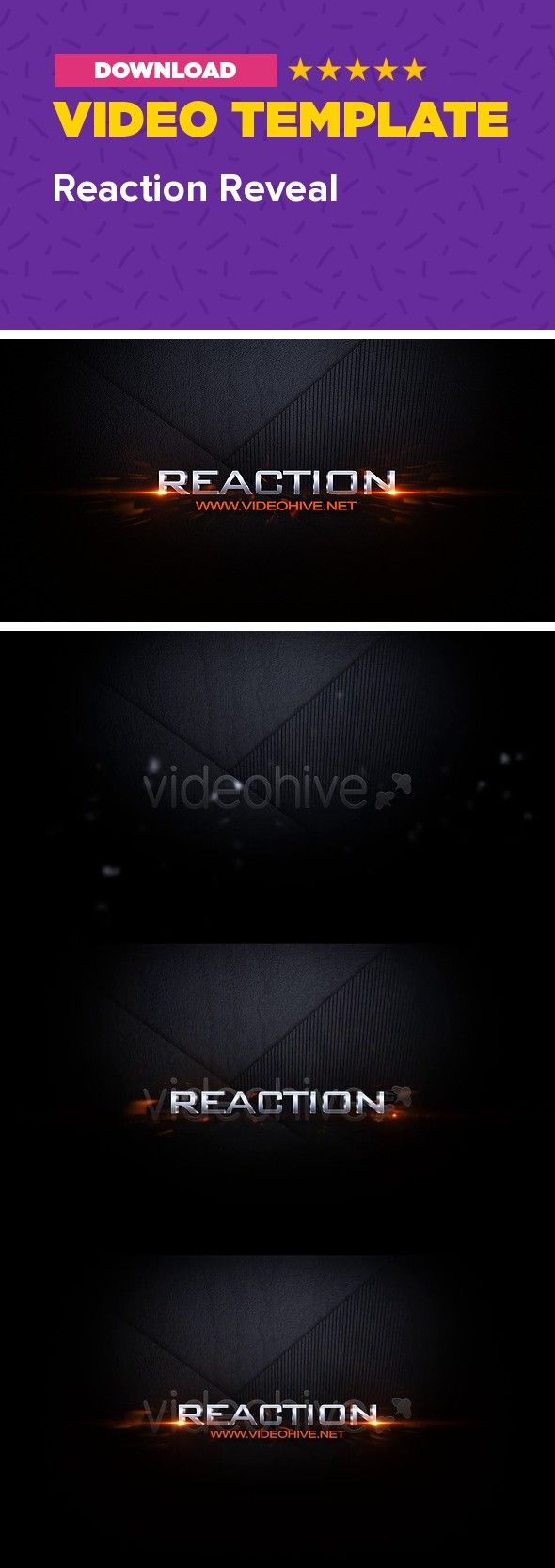 dark, distortion, formation, hi tech, logo, logo distortion, logo formation, logo intro, logo pieces, logo reveal, opener, pieces, shatter, text, tv noise Glitchy Logo or text reveal. High quality After Effects template.   	Main features: Compatible with After Effects CS3 ->CC 2017 Full HD 1920×1080 px resolution No plugins required  Very easy editing. Help file included. For soundtrack info contact me through my profile page. Also available without the metallic finish, so you can add yo...