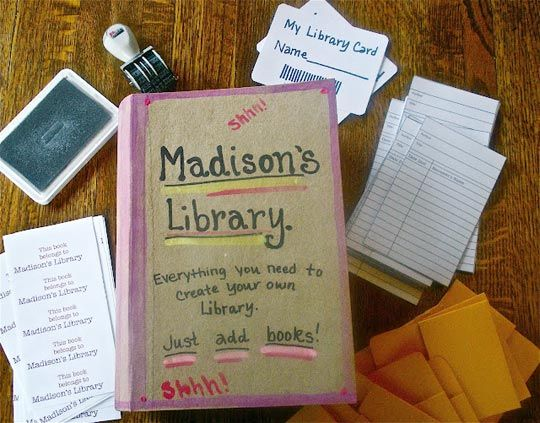 at home library for kids... love that they librarians magicians!