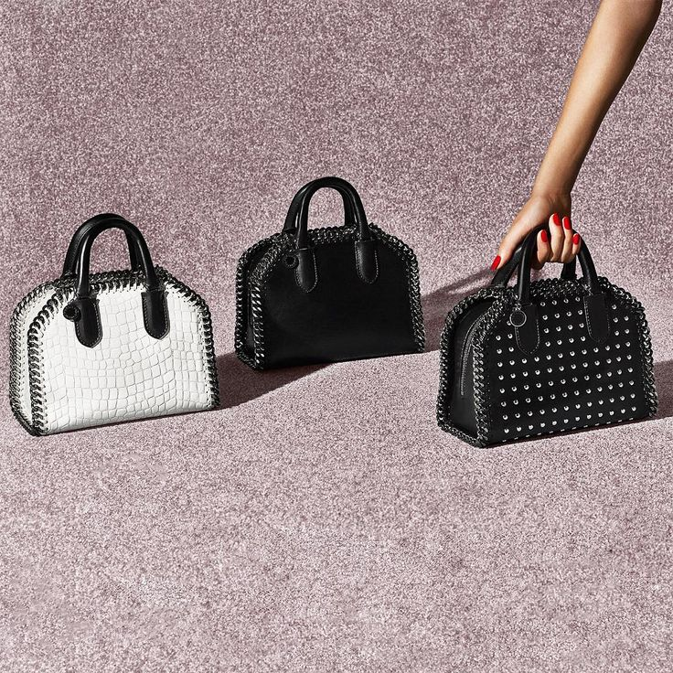 Arm yourself with the new bag from the #Falabella family.  Shop the mini #FalabellaBox bag now at #StellaMcCartney.com