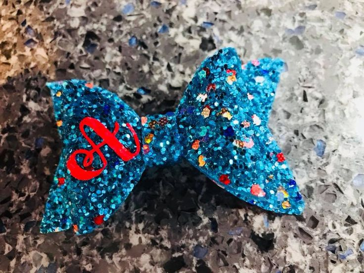 Excited to share the latest addition to my #etsy shop: Personalised Glitter Hair Bow 5cm