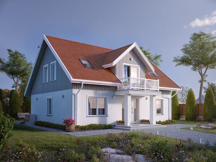 Dudek 2 (138,25 m2) w skandynawskim stylu. Pełna prezentacja projektu dostępna jest na stronie: https://www.domywstylu.pl/projekt-domu-dudek_2.php. #dudek2 #domywstylu #mtmstyl #projekty #projektygotowe #dom #domy #projekt #budowadomu #budujemydom #design #newdesign #home #houses #architecture #architektura