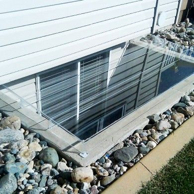Acrylic Egress Window Well Cover Cement Frame
