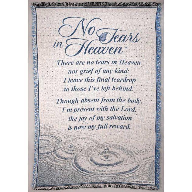 No Tears In Heaven Woven Throw