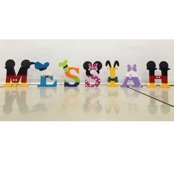 Small Mickey Mouse Clubhouse Letters 3 di PerfectlyBoutique