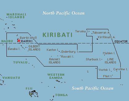 Malden Island Map
