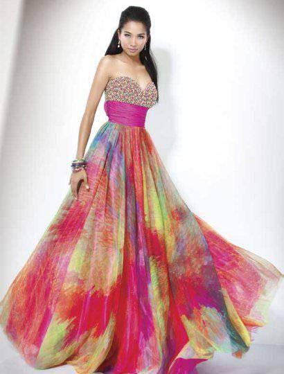The 25  best Rainbow prom dress ideas on Pinterest   Pretty ...