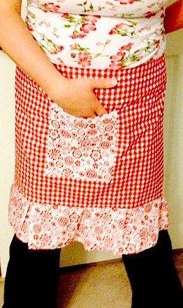 Half Apron Women's Fashion Cooking Baking by MayamisworldAprons