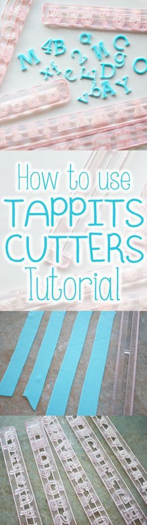 How to use TAPPIT CUTTERS tutorial, step by step guide for cakes and cupcakes decorating working with fondant, Easiest, Fastest way to get fondant out of tappits cutters. www.thecakinggirl.ca: