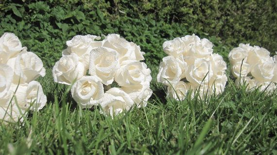 Rustic Wedding bouquet Crepe Paper Flowers by moniaflowers on Etsy