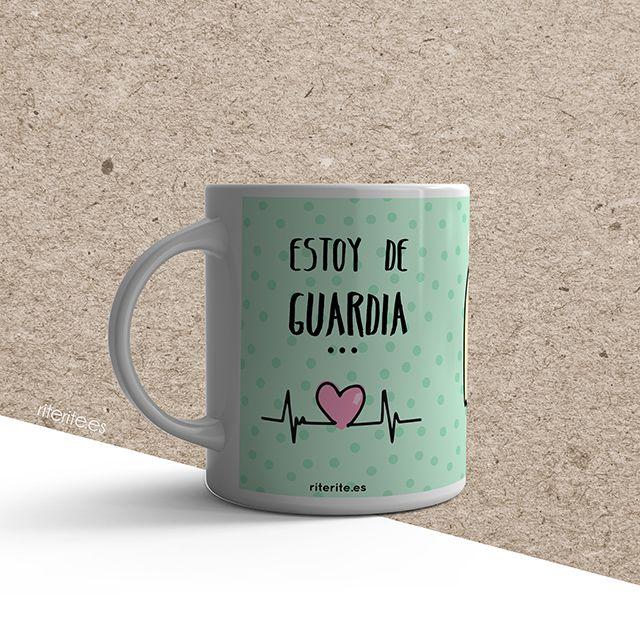 Rite Rite: Chapas y taza personalizada para una enfermera. Isidro y Laura