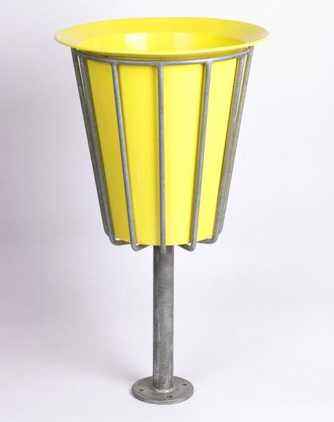David Mellor's galvanized steel litter bin, 1957.