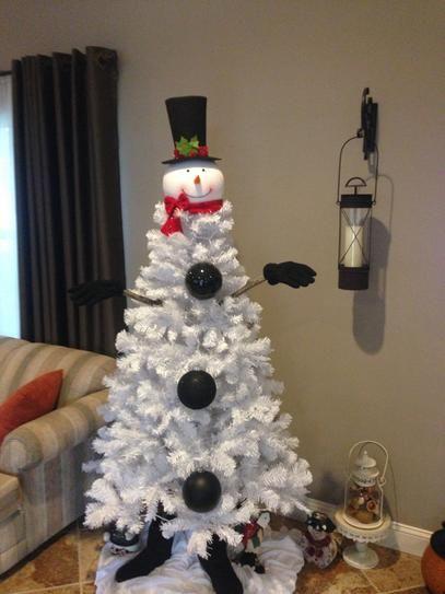 best 25 snowman tree topper ideas on pinterest snowman. Black Bedroom Furniture Sets. Home Design Ideas