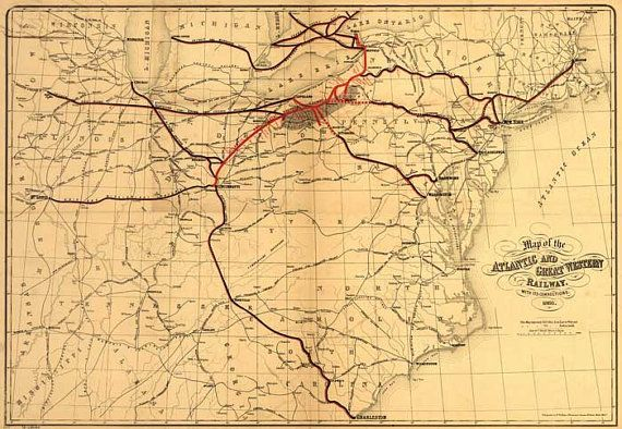 Atlantic and Great Western Railway 1866  by patternsnprints