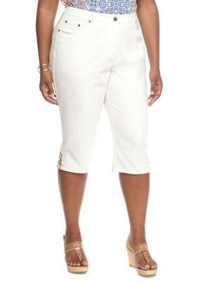 Ruby Rd  Plus Size Keep It Neutral Jean Clamdiggers