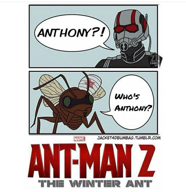 What?? NOOOO!! Who the hell's Anthony? I can't fight you, Anthony. Your name is Ant Ant Anthony, and you're my friend. You're my mission! Do you have any idea how sad this movie would be?