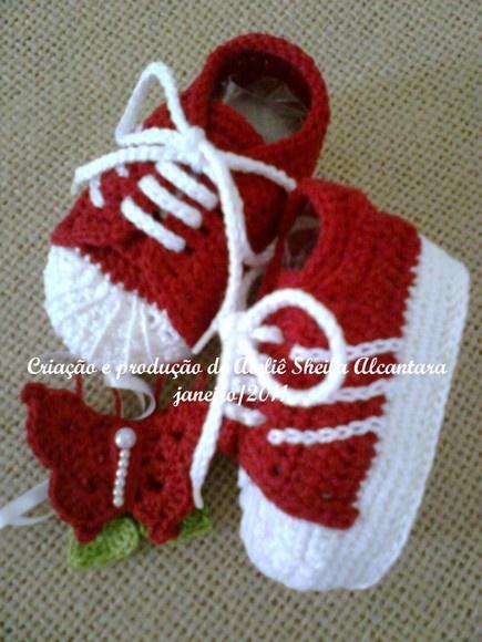 Tênis bebê Adidas crochê ORIGINAL
