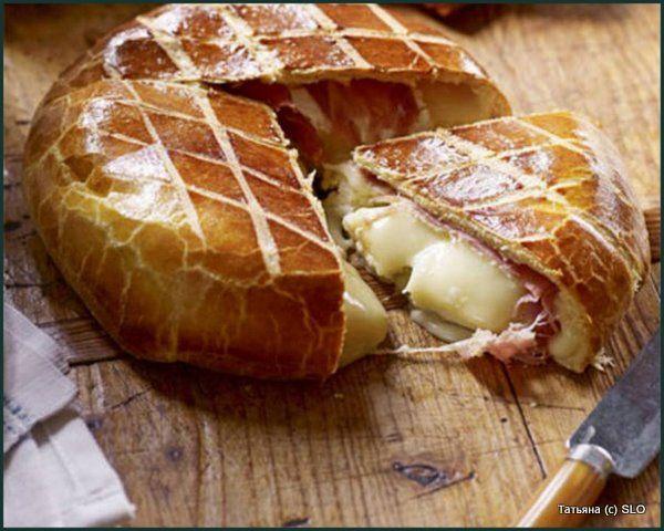 recipes member blog  Сыр бри, запеченный под хлебной корочкой Сыр Ветчина