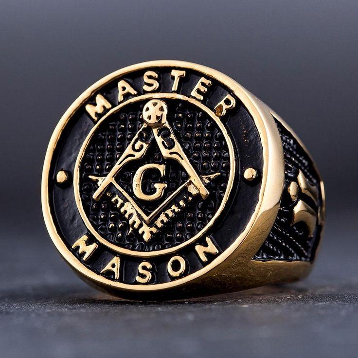 New MASTER MASON Gold Toned Masonic Rings!