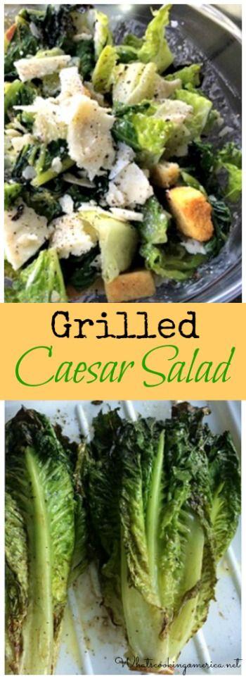 Grilled Ceasar Salad Recipe  | whatscookingamerica.net  | #grilled #ceasar #salad