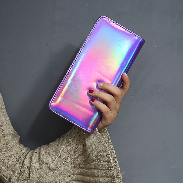 Fashion Women Leather Wallet Hologram Color Clutch Wallets And Purses Leather Long Brand Money Purse Credit Card Wallet-in Wallets from Luggage & Bags on Aliexpress.com | Alibaba Group