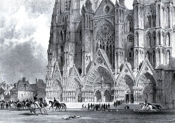 Bourges Cathedral c. 1840 France