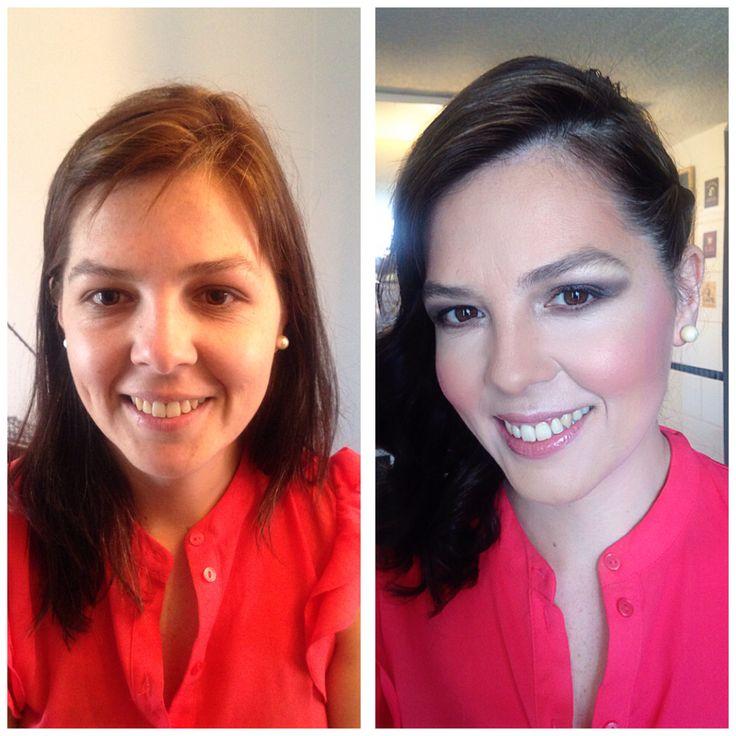 Antes y después , maquillaje y peinado , kryolan , belleza , cambio de look