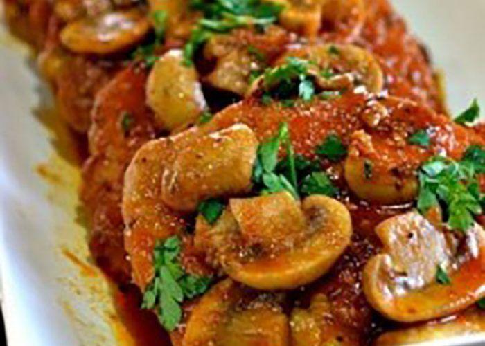 Varkenshaas met champignon jus