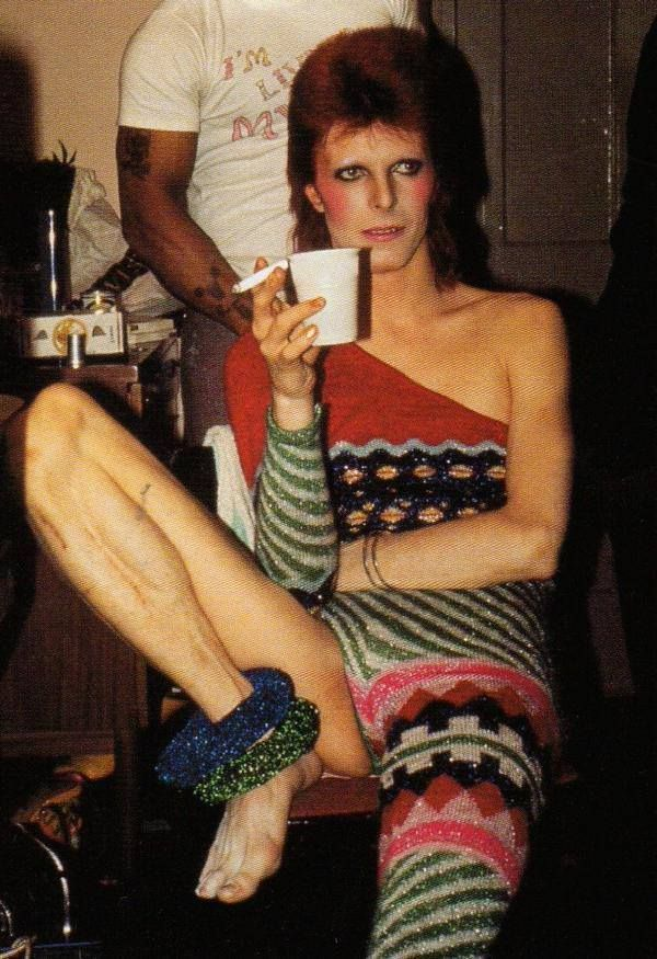 David Bowie 1973, I really like David Bowie, but this look is disturbing.